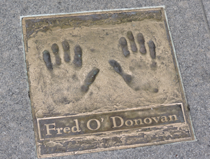 Fred O'Donovan - Fred O'Donovan handprints (Gaiety Theatre, Dublin)