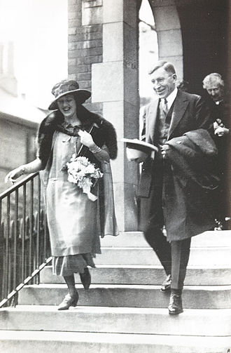 Frederick Banting - Banting and Marion Robertson on their wedding day