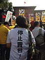 Free Taiwan Party and New Power Party protest Ma-Xi Meeting 20151104.jpg