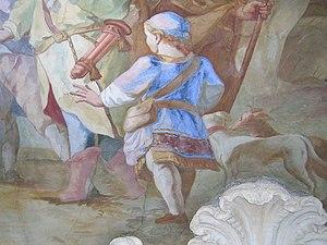 Johann Baptist Zimmermann - Detail of the fresco in St. Michael Berg am Laim