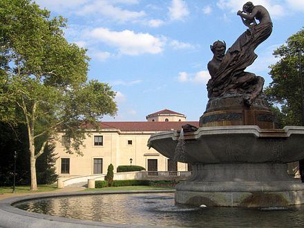 Frick Fine Arts Building with the Mary Schenley Memorial Fountain FrickFineArtsSchenleyFountain.jpg