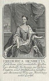 Friederica Henrietta, Leopold's first wife (Source: Wikimedia)