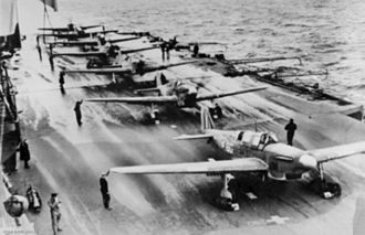 809 Naval Air Squadron - Fulmars of 809 NAS aboard Victorious in 1942