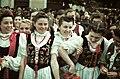 Gábor Áron tér, lányok népviseletben a magyar csapatok bevonulása idején. A felvétel 1940. szeptember 13-án készült. Fortepan 3952.jpg