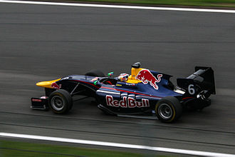 Daniil Kvyat - Kvyat competing for MW Arden during the 2013 GP3 Series, at Spa-Francorchamps. He took the first of three victories during the 2013 season at Spa-Francorchamps, en route to the championship title.