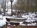 Gabion wall on a stream in Strawberry Wood - geograph.org.uk - 1710172.jpg