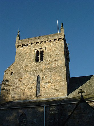 Gainford, County Durham - Image: Gainford church tower geograph.org.uk 256115