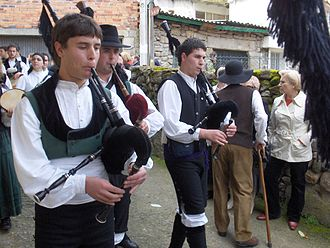 Celtic Revival - Galician gaiteiros. All forms of Galician culture were suppressed during the Franco regime.