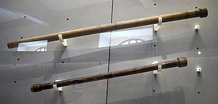 "Galileo's ""cannocchiali"" telescopes at the Museo Galileo, Florence Galileo galilei, telescopi del 1609-10 ca..JPG"