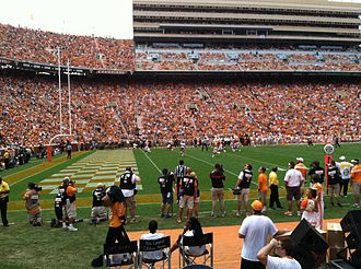 2014 Tennessee Volunteers football team - Image: Game Action