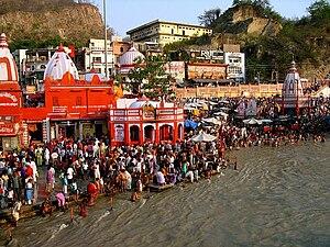 Ganga Dussehra - Ganga Dussehra at Haridwar in 2005