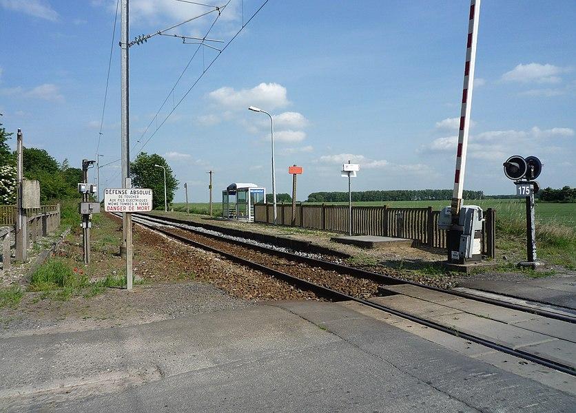 Image de la gare ferroviaire de Brunémont dans le département du Nord