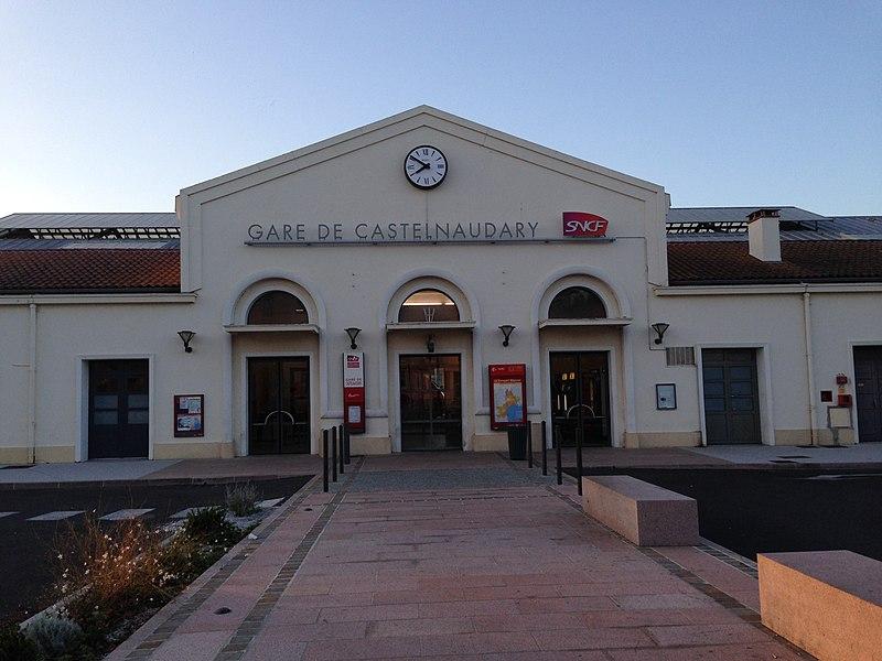 Gare de Castelnaudary (Aude, France).