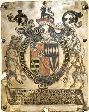 Henry Percy, 5th Earl of Northumberland - Garter stall plate of the 5th Earl of Northumberland, 1499