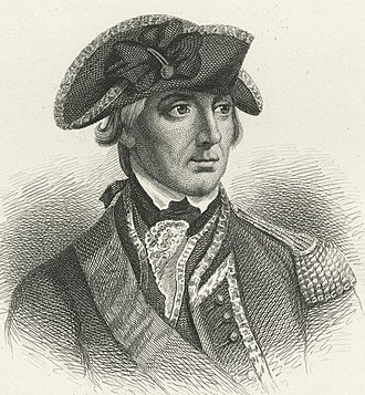 William Howe, 5th Viscount Howe - Engraving by Henry Bryan Hall