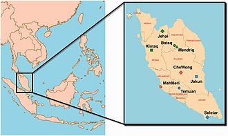 Temuan people - Geographical location of Temuan people and other Orang Asli communities in Peninsular Malaysia.