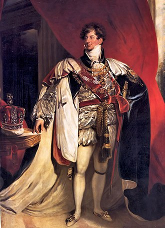 King's College London - The patron of King's College London, King George IV, shown in a portrait by Sir Thomas Lawrence