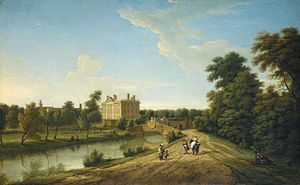 George Lambert (English painter) - Image: George Lambert View of Dunton Hall, Lincolnshire (1739)