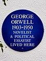 George Orwell 1903-1950 novelist & political essayist lived here.jpg