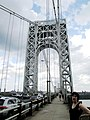 George Washington Bridge west tower and south sidewalk seen from the west.jpg
