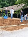 Georgia Native Plant Society planting butterfly garden in Heritage Park, Mableton, Cobb County, Sept 2015 26.jpg