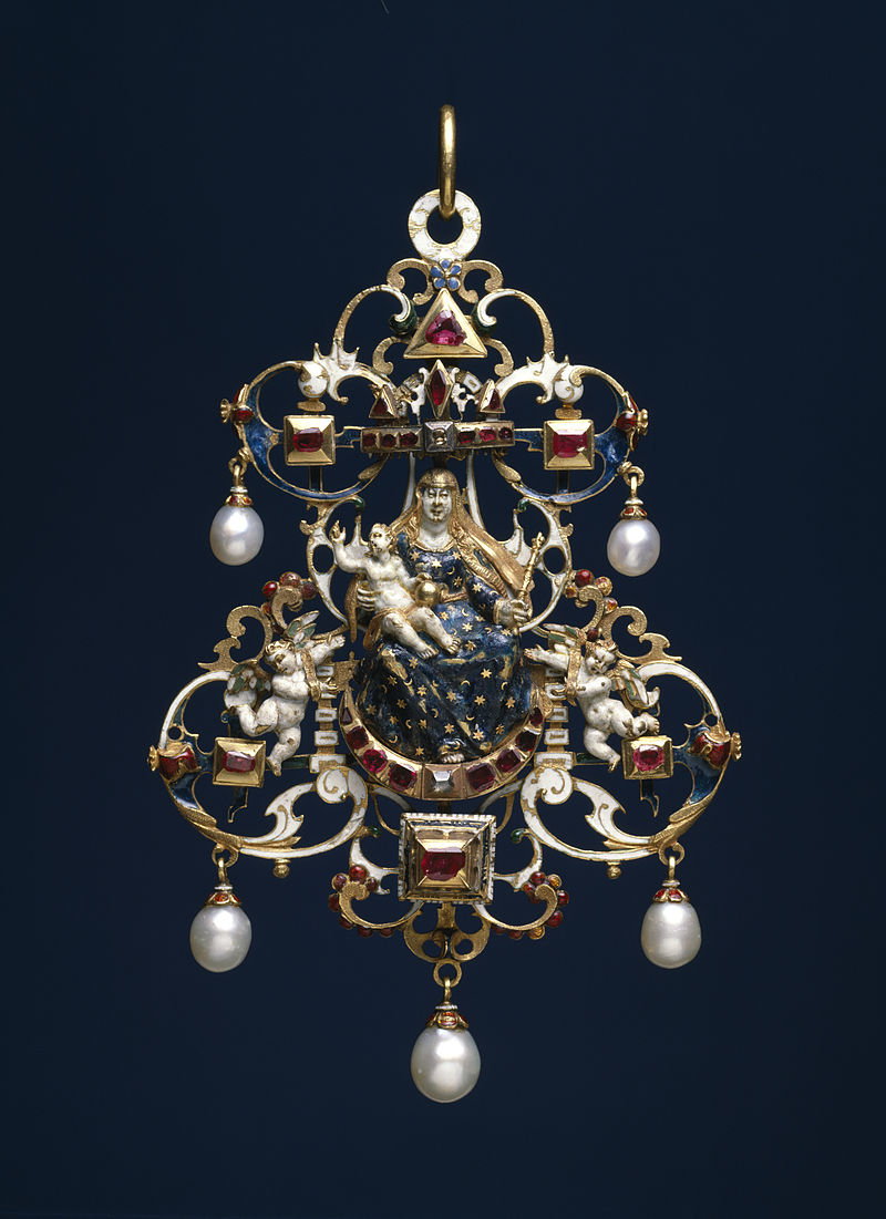German - Pendant with the Virgin and Child Enthroned - Walters 44263.jpg