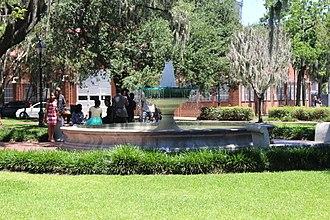 Squares of Savannah, Georgia - German Memorial Fountain