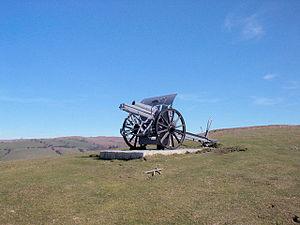 German 10.5 cm 98/09 field howitzer. On top of...