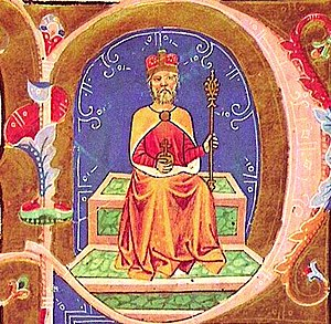 Michael of Hungary - Michael's brother, Géza depicted in the Illuminated Chronicle