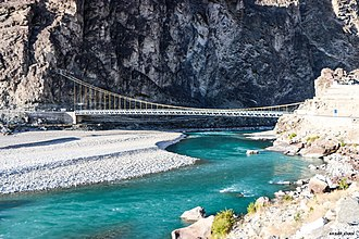 Ghizer District - Bridge over the Ghizer River