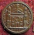 Giancristoforo romano, medaglia di giulio II con santuario di loreto, verso, 1509.JPG