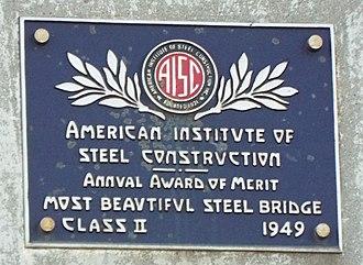 "Gila County, Arizona - The ""Most Beautiful Bridge"" plaque."