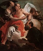 Giovanni Battista Tiepolo - Abraham Praying before the Three Angels - WGA22258.jpg
