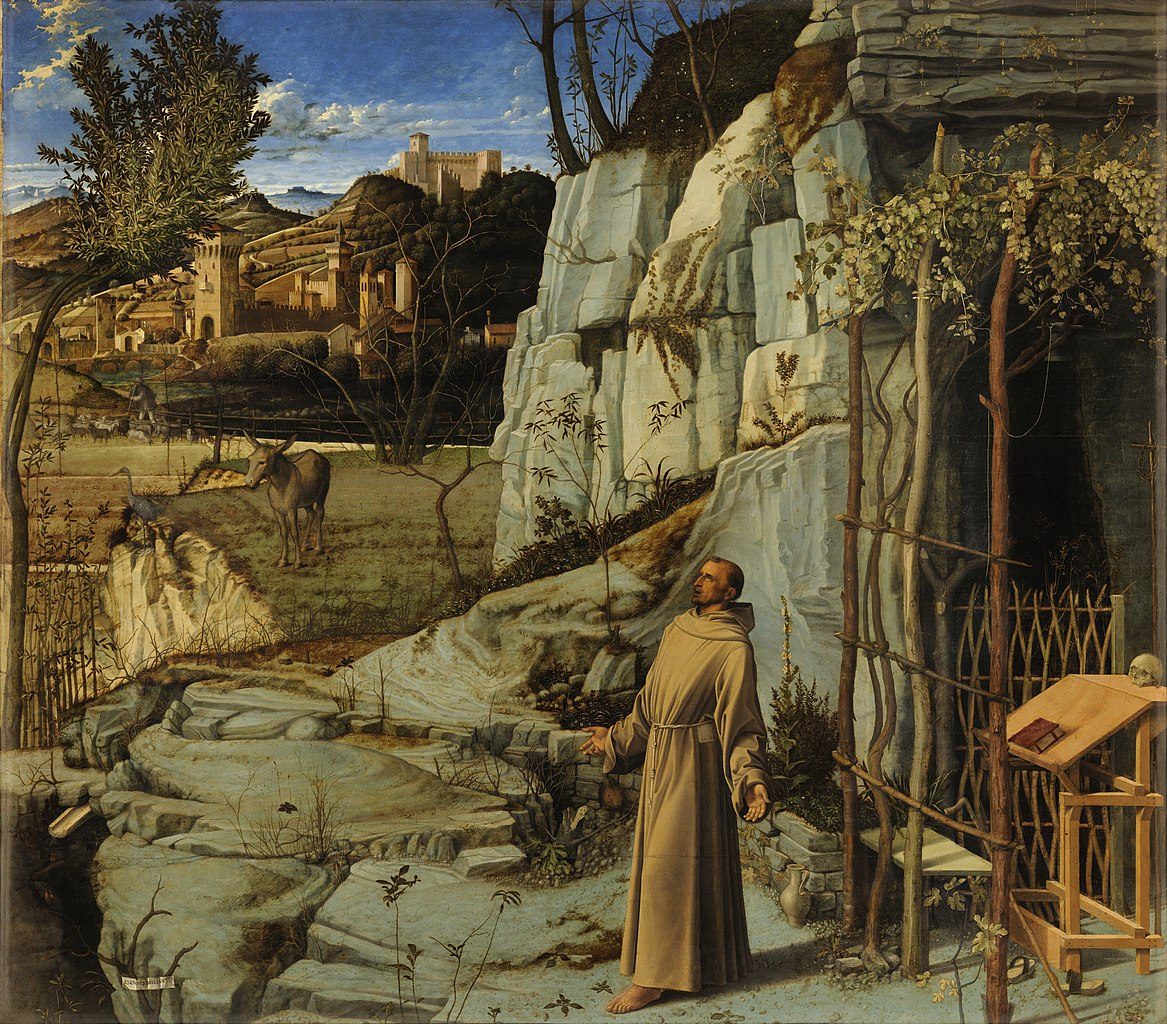 Saint Francis in the Desert Giovanni Bellini, c. 1480, Frick Collection