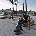 Girl With Her Dog Statue by David Raffai at Vigado Square, Budapest (Ank Kumar) 04.jpg