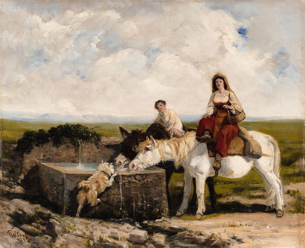 Giuseppe Palizzi Rest by a Well in the Abruzzi.jpg