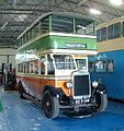 Glasgow Corporation preserved bus 111 Leyland Titan TD1 Leyland body GE 2446 Scottish Vintage Bus Museum in Fife 15 August 2003.jpg