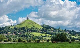 Glastonbury Tor Hill in Glastonbury, Somerset, England