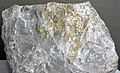 Gold-quartz hydrothermal vein (Precambrian; Camflo Gold Mine, Malartic, Quebec, Canada) (17017391900).jpg