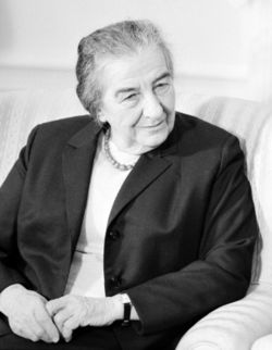 Golda Meir bw photo portrait head and shoulders facing right March 1 1973 alternative Edit2.jpg