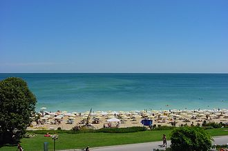 Golden Sands, popular tourist destination on Bulgarian coast Goldstrand.jpg