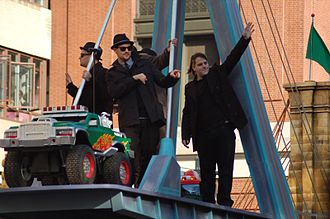Good Charlotte - Good Charlotte in 2007 on the group's float in the Macy's Thanksgiving Day Parade