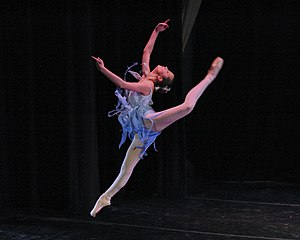 Contemporary ballet - A contemporary ballet dancer