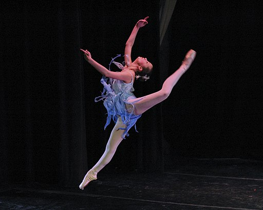 Grace in winter, contemporary ballet