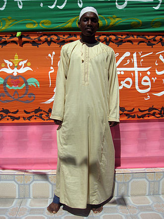 Religion in the Comoros - A Comorian in traditional Muslim dress.
