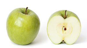 Oceanic cuisine - Image: Granny smith and cross section