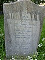 Gravestone in Staveley churchyard - geograph.org.uk - 459380.jpg
