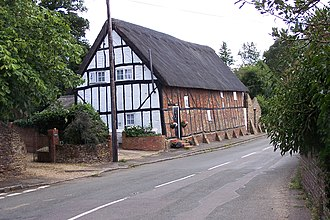 """Great Brickhill - """"Cromwell's Cottages"""" where Essex's men were reputedly billeted"""