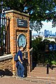Greenwich - Royal Observatory - View NW with in the back Canary Wharf Docklands.jpg