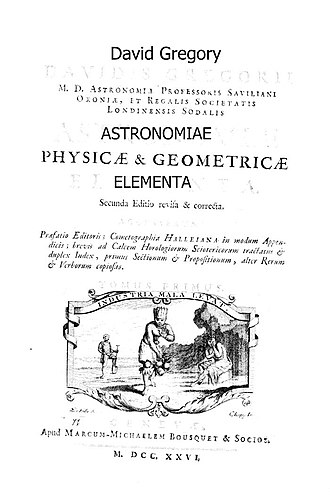 David Gregory (mathematician) - Astronomiae physicae et geometricae elementa, 1726